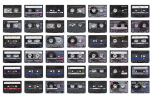 Wall-of-cassettes