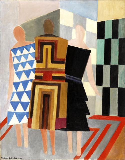 Sonia Delaunay (November 14  1885 – December 5  1979)  Simultaneous Dresses (Three Women  Forms  Colors)  1925